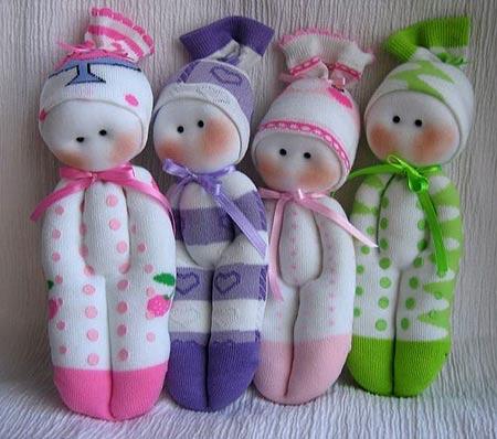 Как сделать куклы своими руками из носков