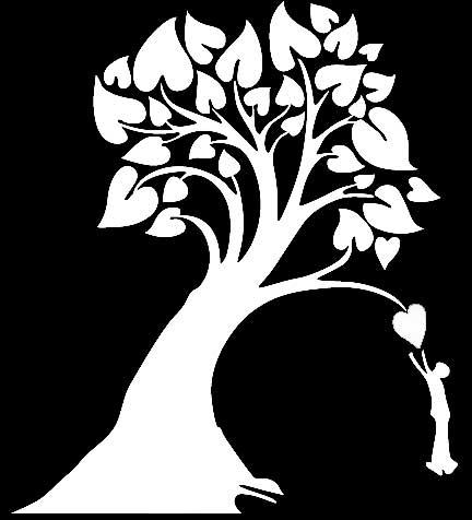 Трафарет для стен - дерево