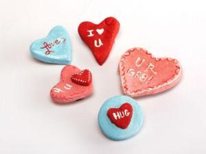 Идеи сердечек валентинок из соленого теста