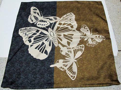 декор подушки росписью по ткани