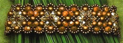 красивый браслет из бисера со схемой