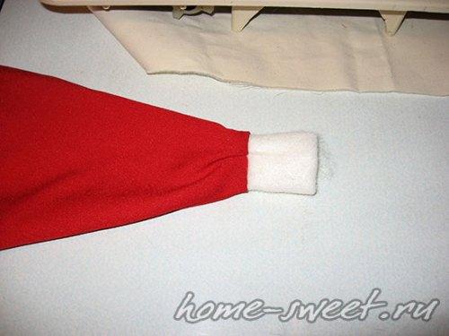 Как сшить новогоднюю шапку Деда Мороза 12