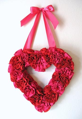 Валентинка - сердце из роз 3