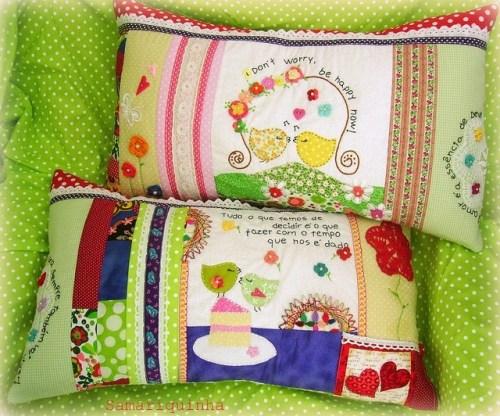 Декоративные подушки пэчворк