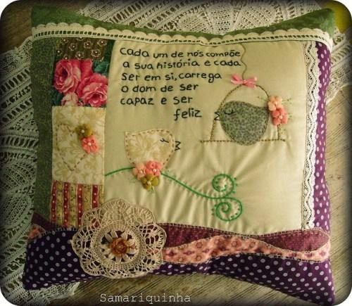 Идея вышитой подушки своими руками