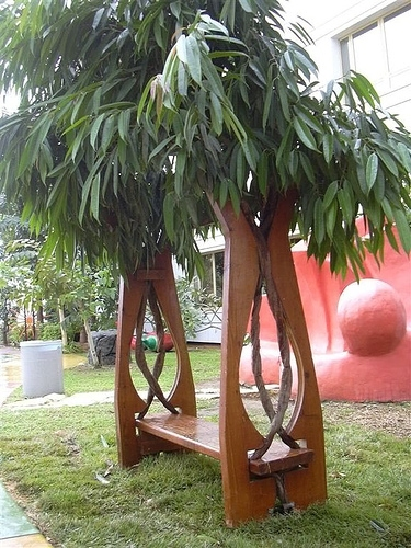 Скамейка пергола