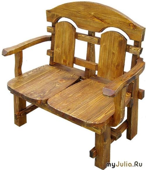 Деревянная скамейка стул