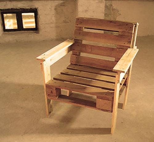 Кресло из поддона