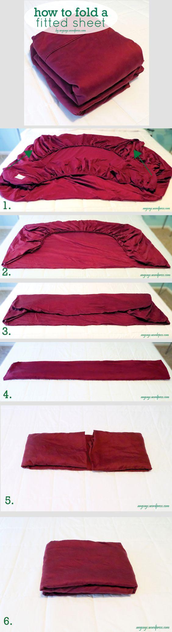 Как сложить простыню на резинке