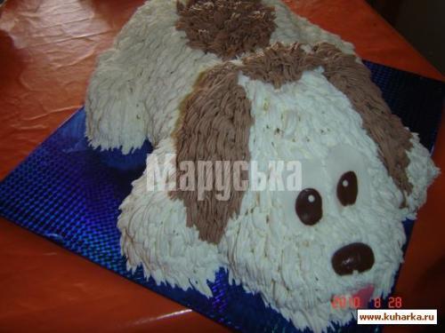 Делаем торт Собачку