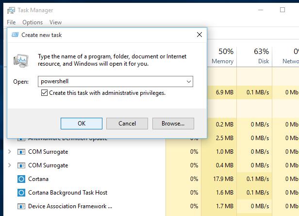 3. Run Windows PowerShell