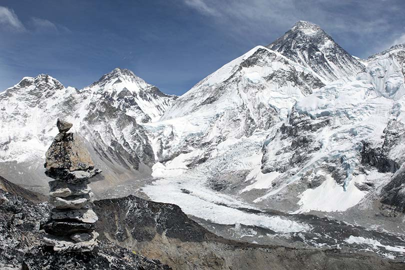 General landscape shot of Everest