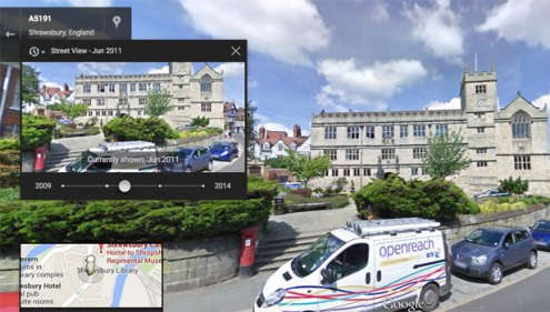 Use Google Maps to go back in time with Google Street View   BT Google Street View   Shrewsbury past and present