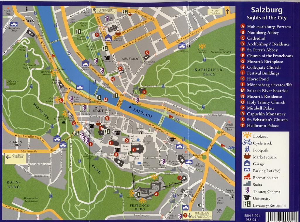 Salzburg AT Sites around the delicate Salzburg city