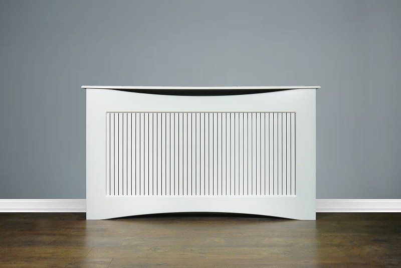 White radiator covers electric storage heater covers