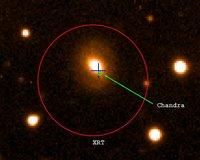 GRB 050724 waargenomen door Chandra satelliet