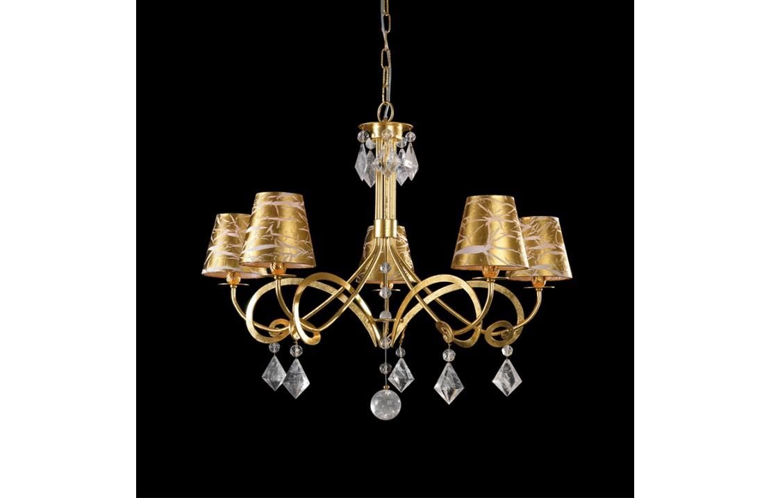 A gocce di cristallo di boemia dimensioni h x l 100 x 40 cm lampadario a un punto luce con lampadina led. Iceberg Lampadario 5 Luci Con Cristalli Di Boemia