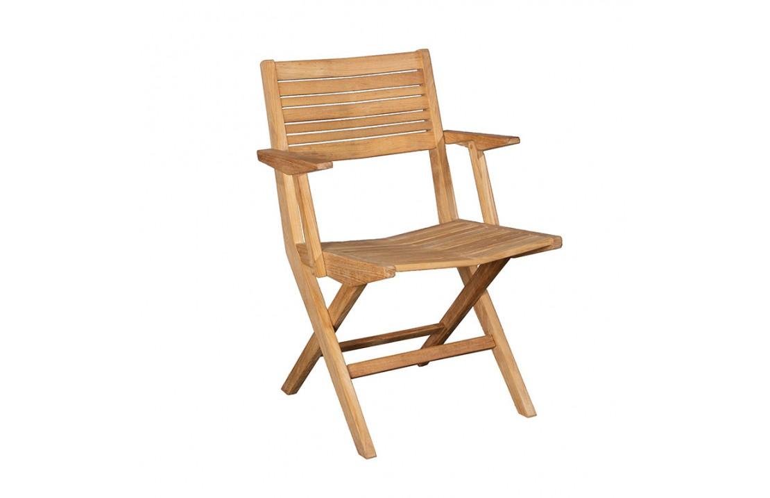 Outsunny set 4 sedie pieghevoli da giardino in rattan con telaio in. Sedia Pieghevole Da Esterno In Legno Con Braccioli Flip