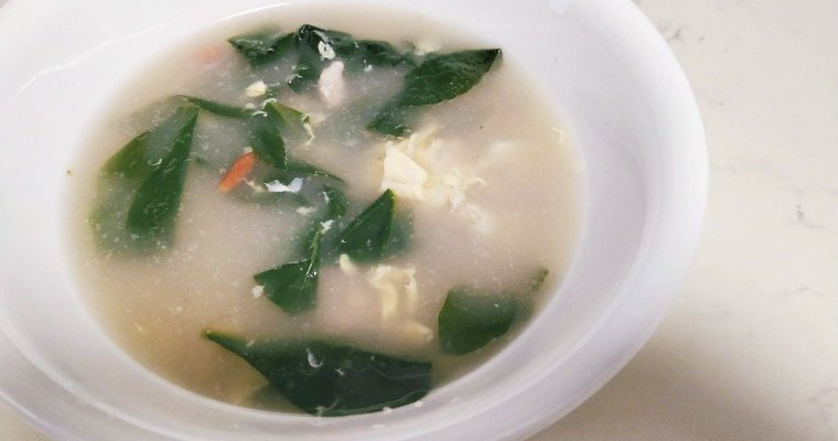 Recipe: Egg Drop Soup with Boxthorn Leaves / Wolfberry Leaves / Gao Gei Choi