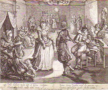 Crispijn de Passe II (1597-1670) Festivities in the rich glutton's house