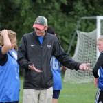Cody Thatcher coaching soccer