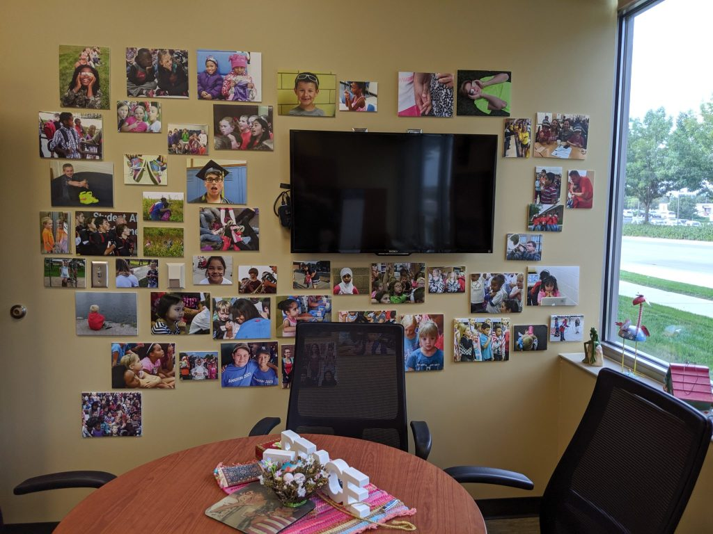 The Photo Wall in Mary Kay Roth's Office