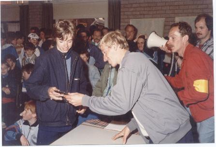 Prijsuitreiking tribuneloop 1986