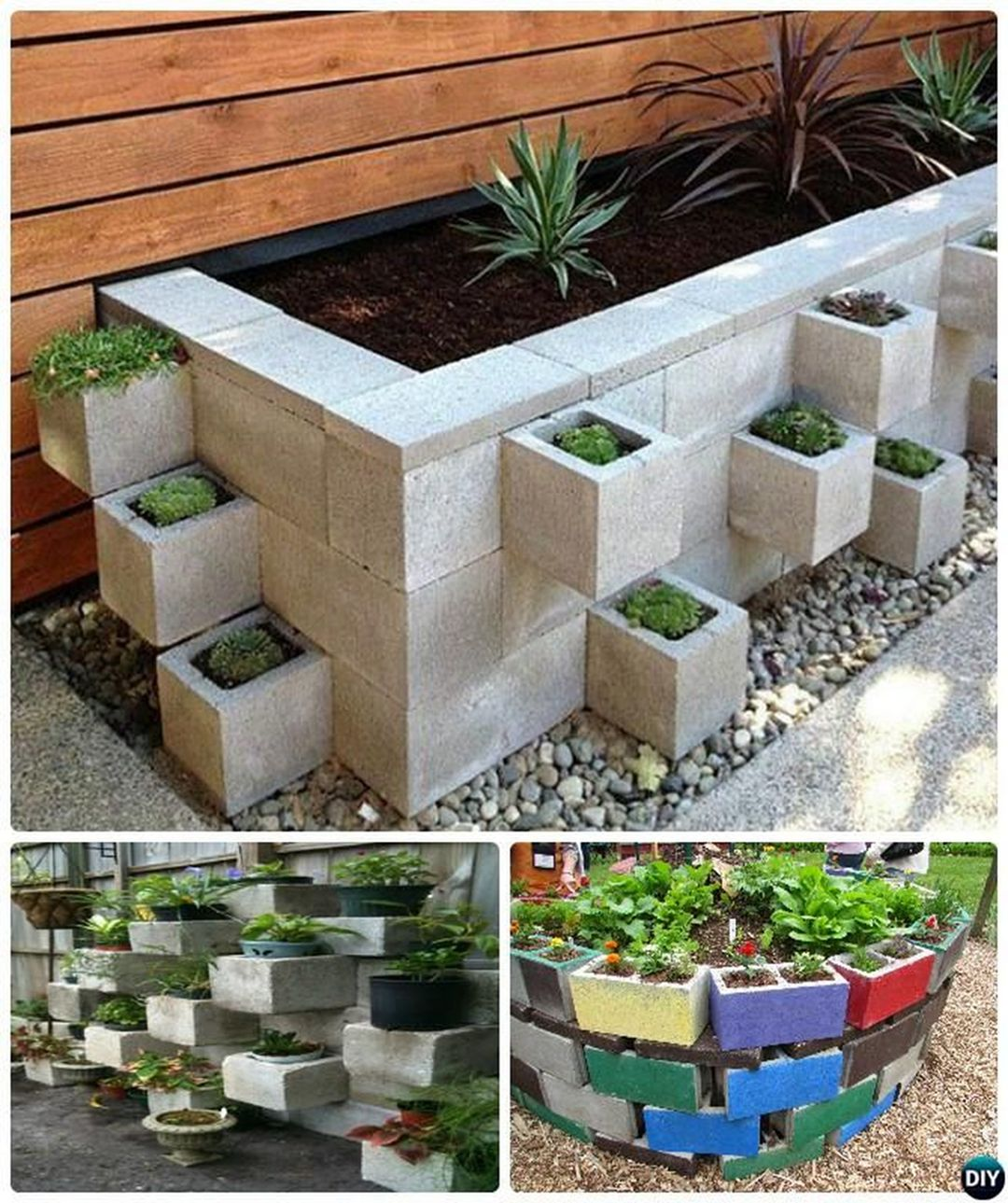 Easy And Inexpensive Cinder Block Garden Ideas 0690