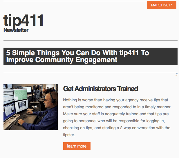 tip411 newsletter