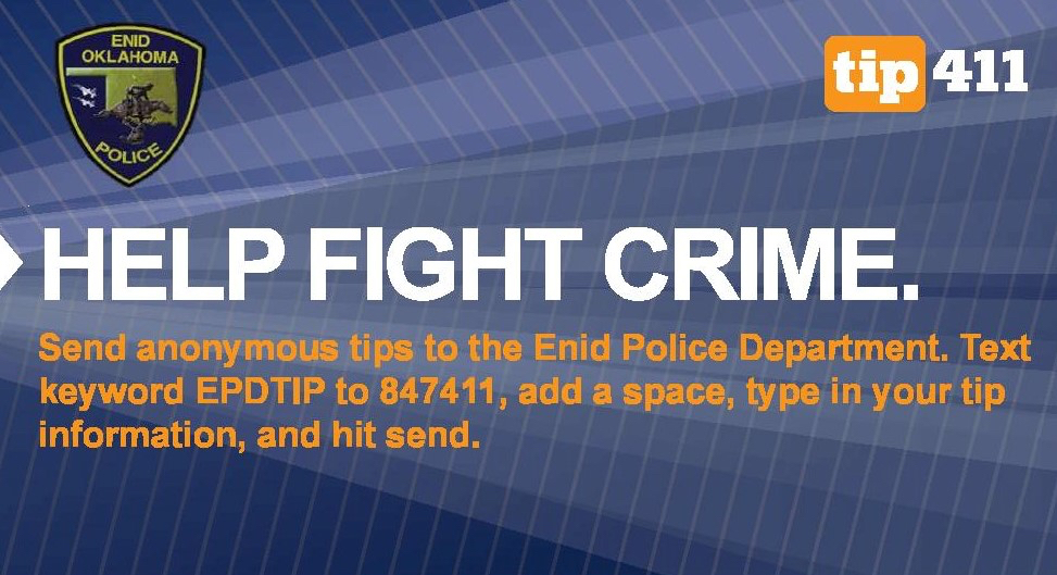 Help fight crime anonymously with tip411