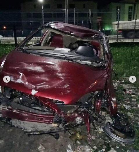 Singer, Djinee Involved In Fatal Car Accident, Rushed To The Hospital (Photos+Video) 3