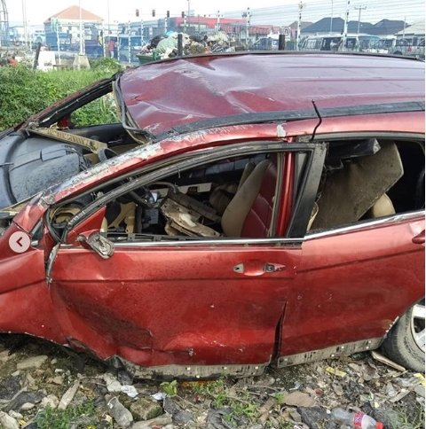 Singer, Djinee Involved In Fatal Car Accident, Rushed To The Hospital (Photos+Video) 4