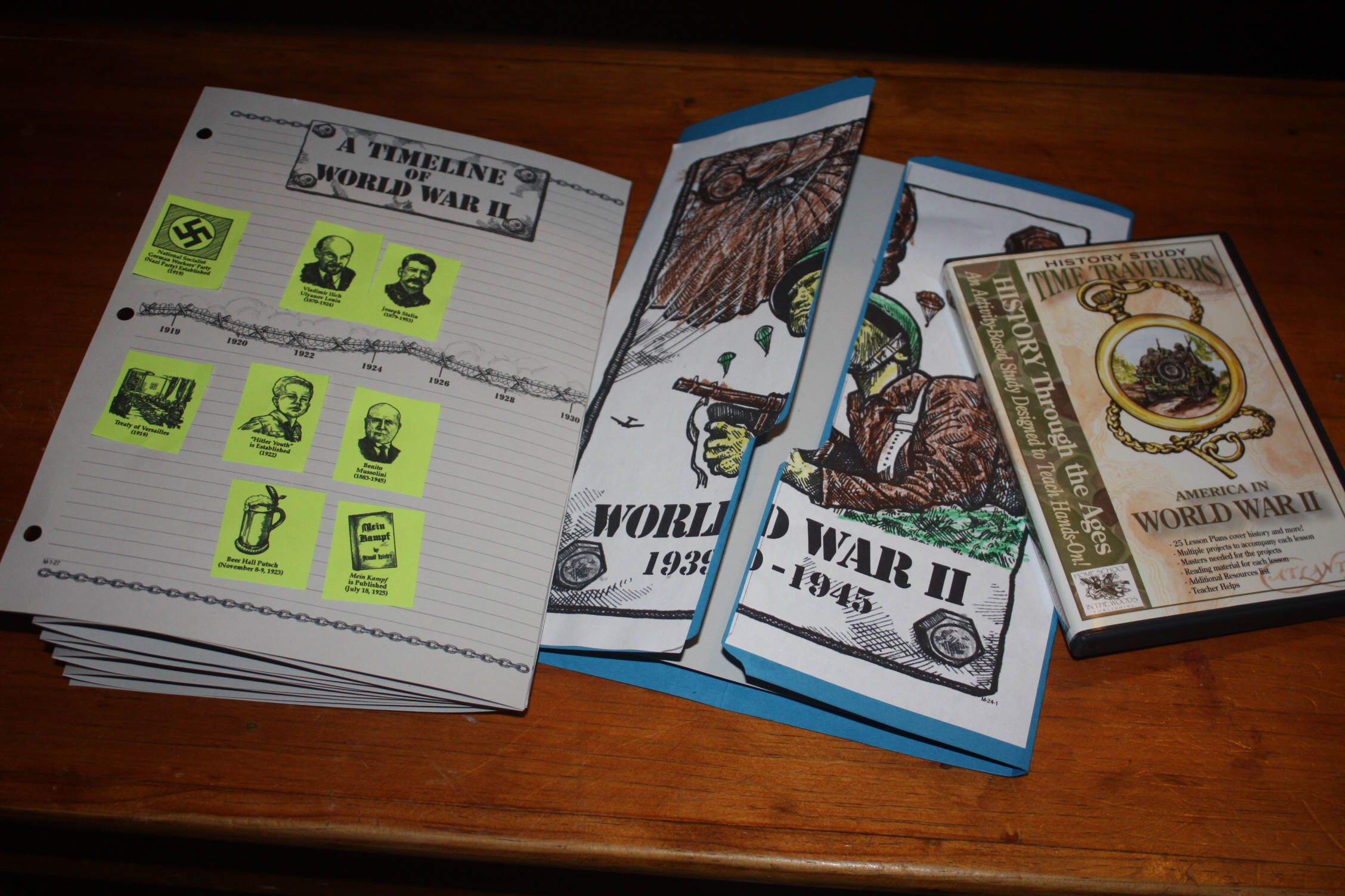 Timeline And Lapbook For Ww2
