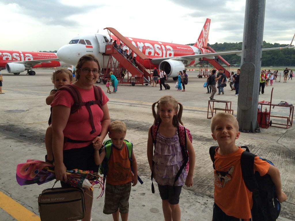 Nomad Family flying AirAsia