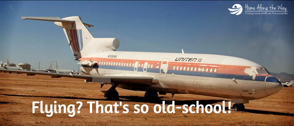 Flying Around the World is So Old School