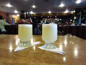 These were my favorite pisco sours. Hotel Bolivar.