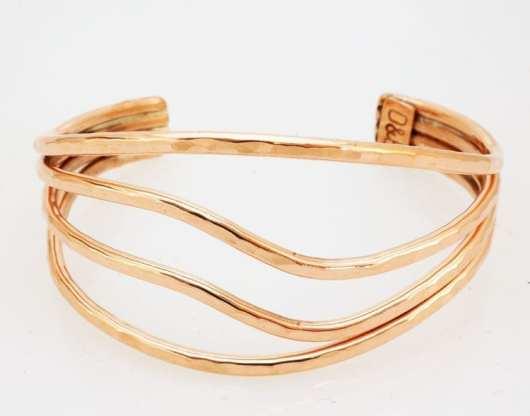 Decontie & Brown copper wave bracelet; Penobscot art.