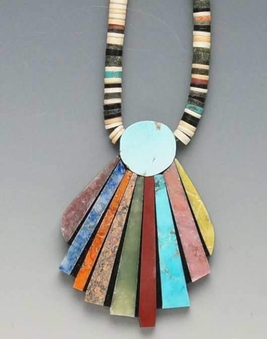 Mary Tafoya Fan Necklace