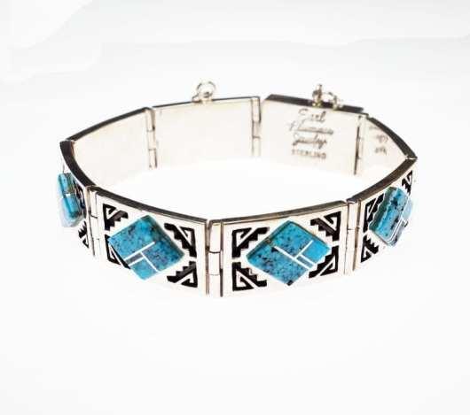 Earl Plummer rug design bracelet
