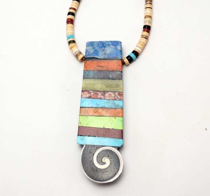 Mary Tafoya Stacked Mosaic Necklace
