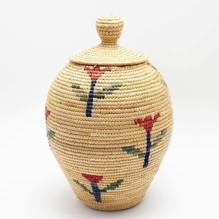 Vintage Hooper Bay Basket - flowers