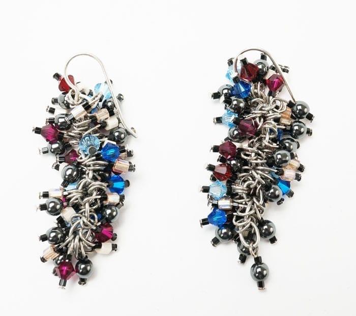 Decontie & Brown multi-colored earrings
