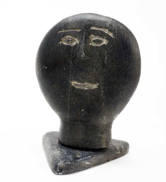 Inuit sculpture face