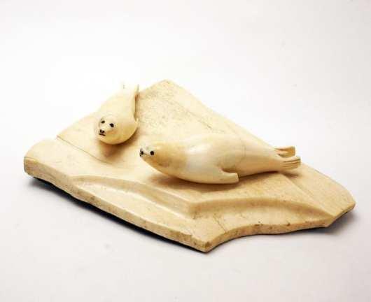 Vintage Eskimo Ivory seals