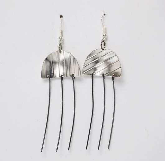 David Gaussoin steel dangle earrings