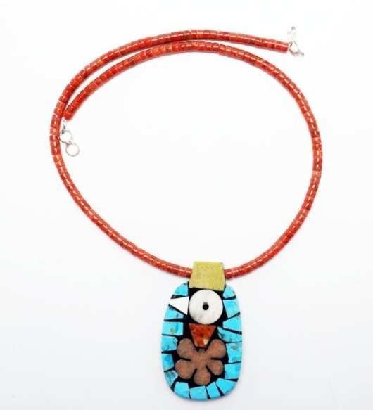 Mary Tafoya Small Bird Necklace