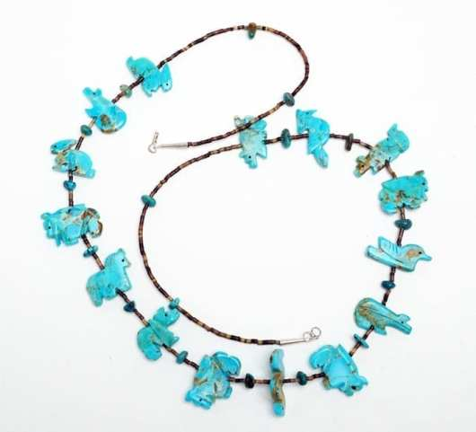Zuni Turquoise Fetish Necklace