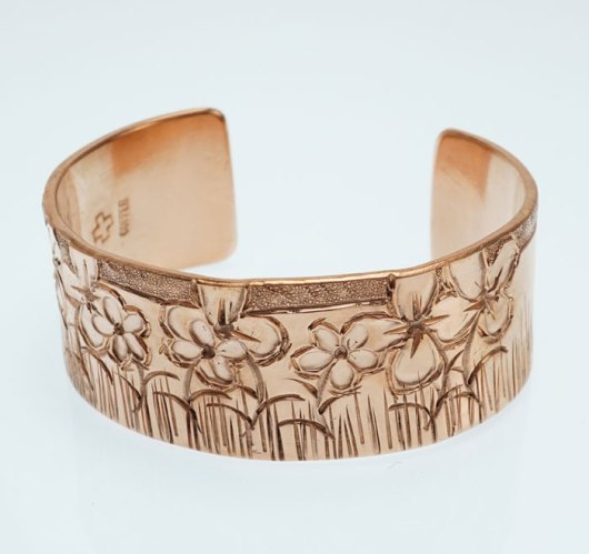 JJ Otero Copper Flower Bracelet