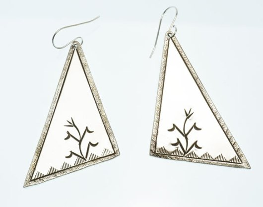 JJ Otero Stamped Corn Earrings