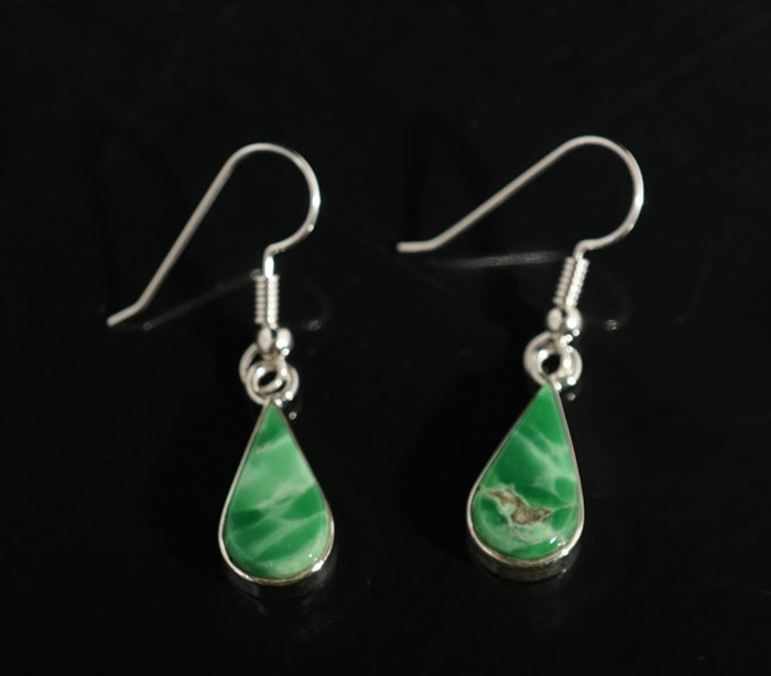 Earl Plummer Sterling Silver Variscite Earrings